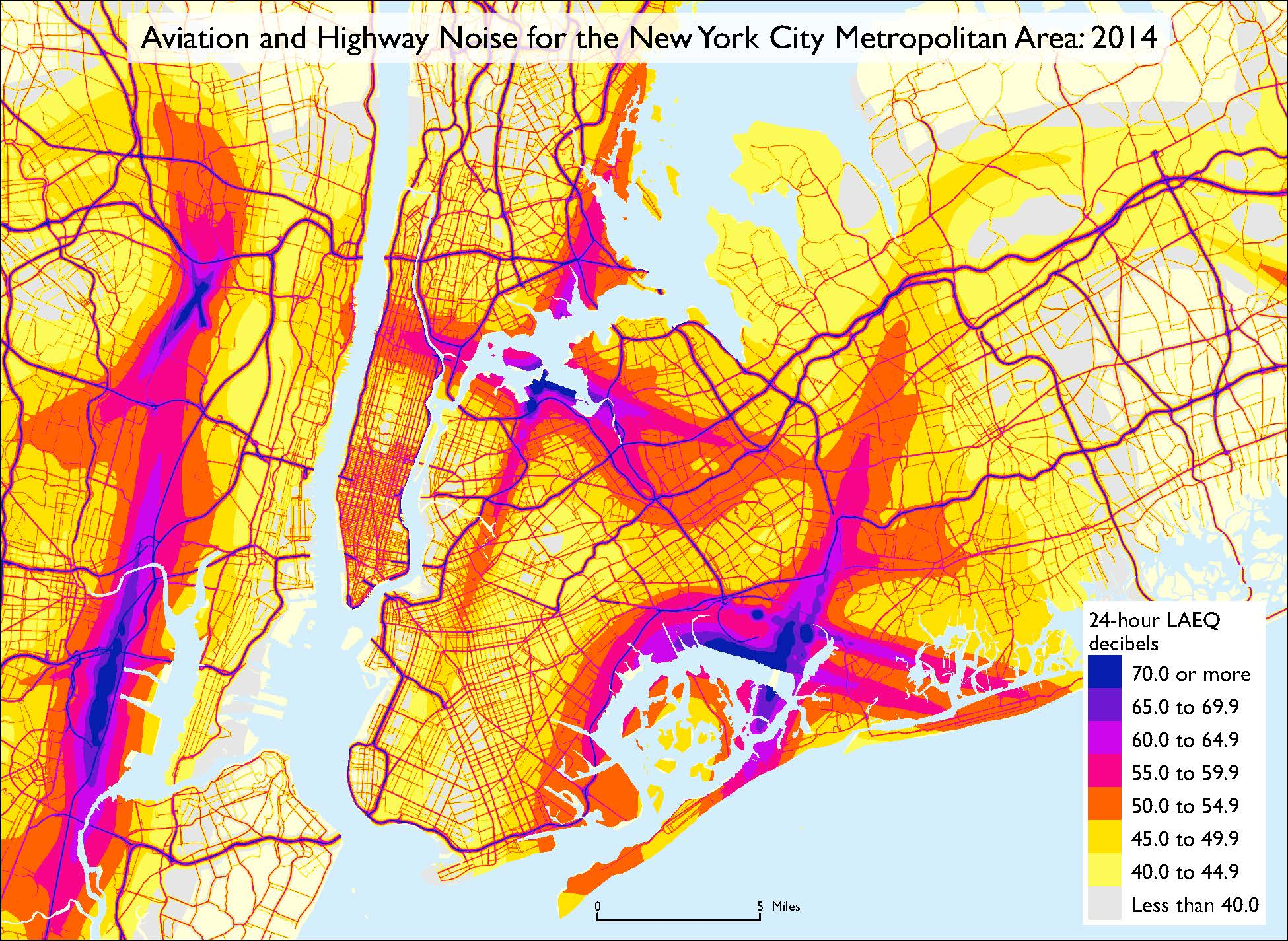 Aviation And Highway Noise For The New York City Metropolitan Area 2014