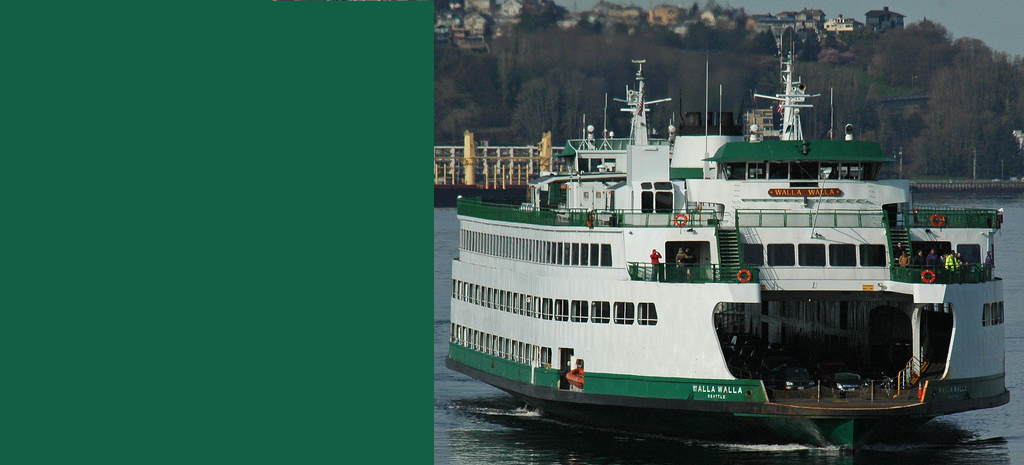"Photo of the ferry ""Walla Walla"" in Washington State"