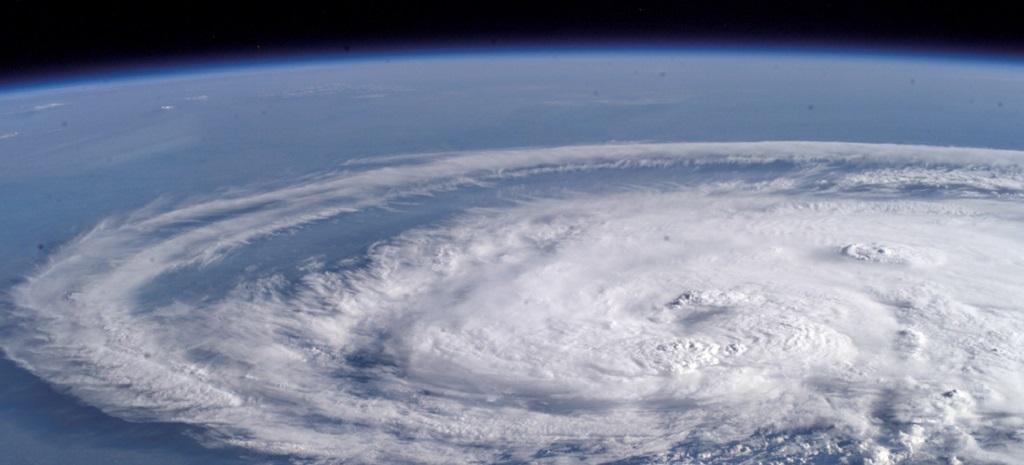 Satellite image of hurricane, courtesy of NASA